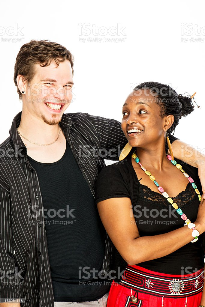 Mixed Race Couple royalty-free stock photo