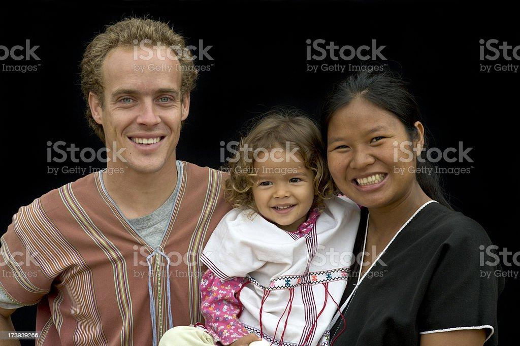 Mixed Race Family stock photo