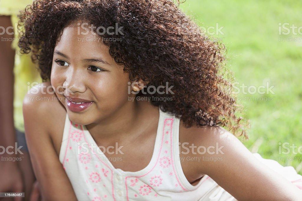 Mixed race girl royalty-free stock photo