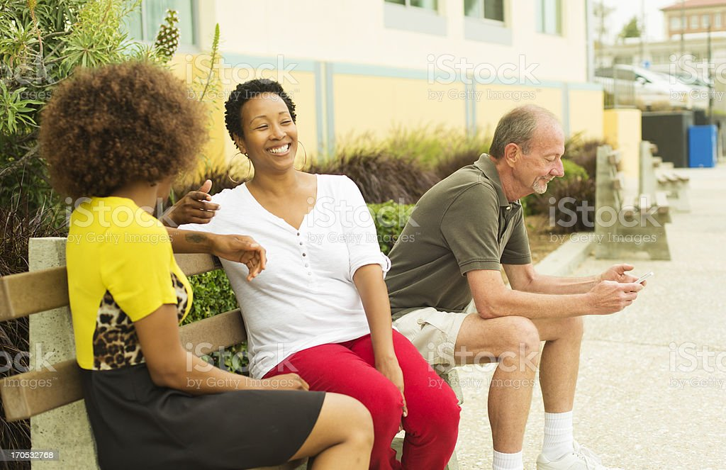 Mixed Race Group People Talking royalty-free stock photo