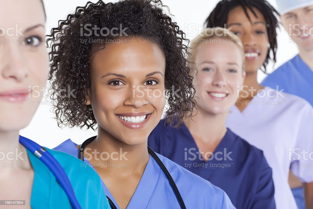 Mixed race medical group royalty-free stock photo