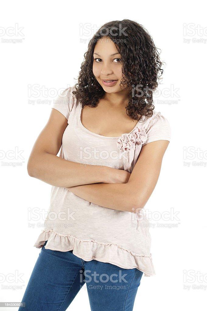 Mixed Race Teen Girl royalty-free stock photo