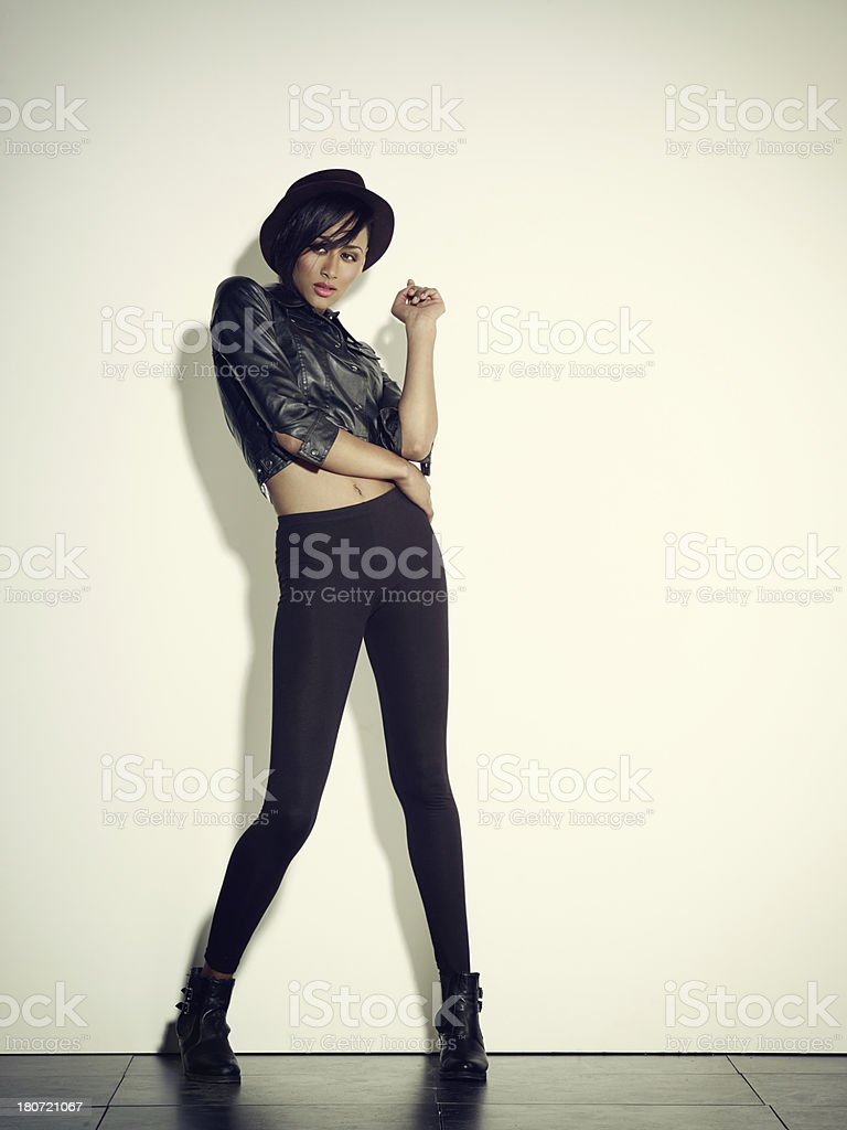 Mixed Race Woman Posing royalty-free stock photo