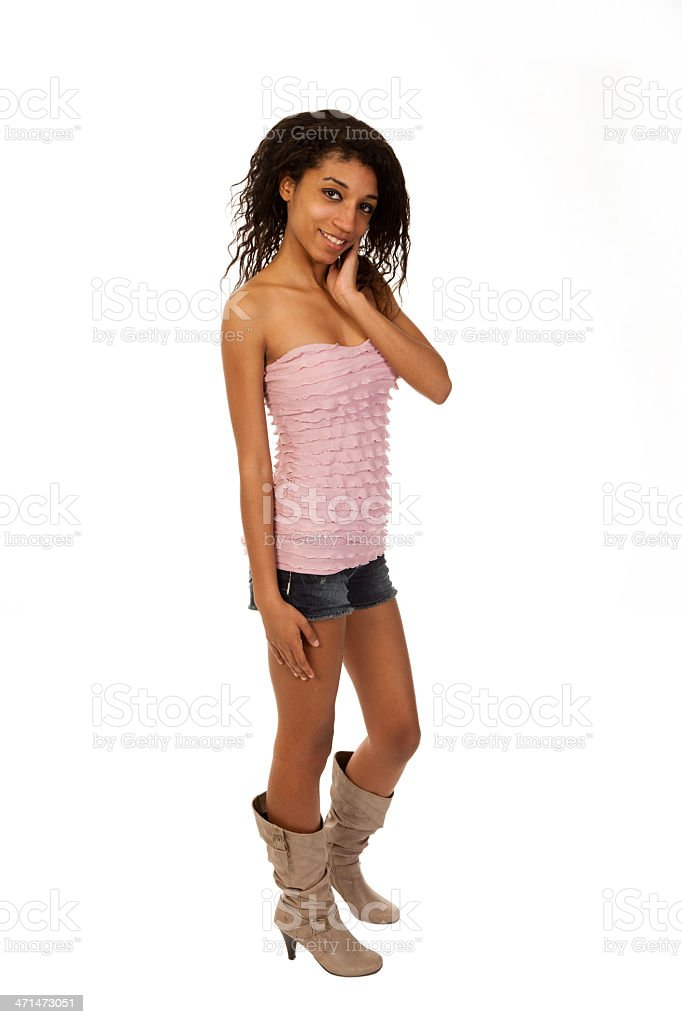 Mixed race young woman stock photo
