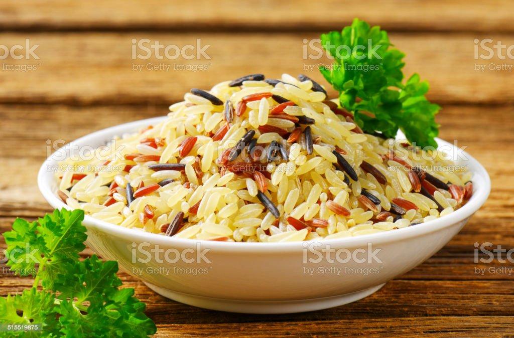 Mixed rice stock photo