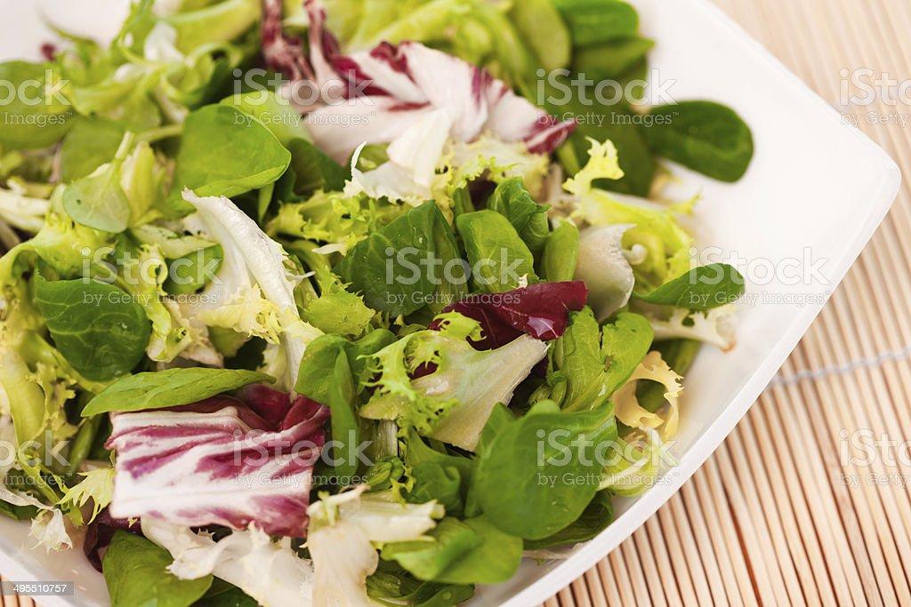 mixed salad leaves royalty-free stock photo