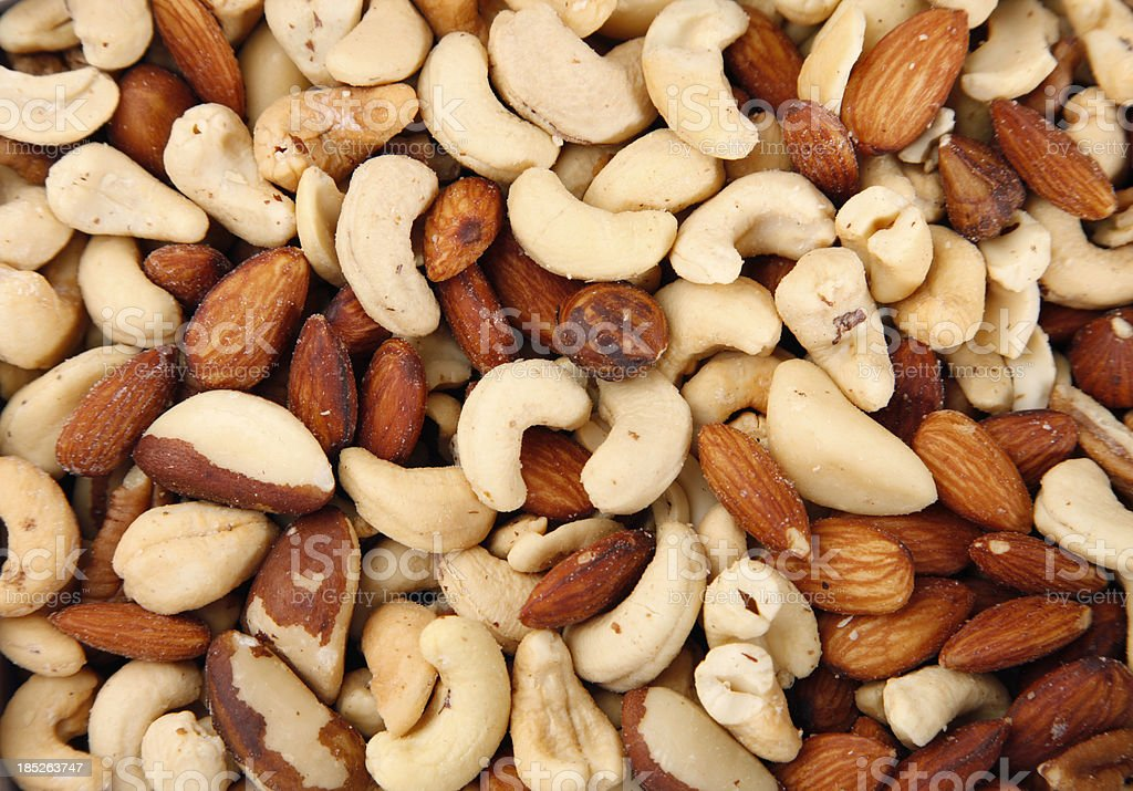 Mixed Salted Nuts stock photo