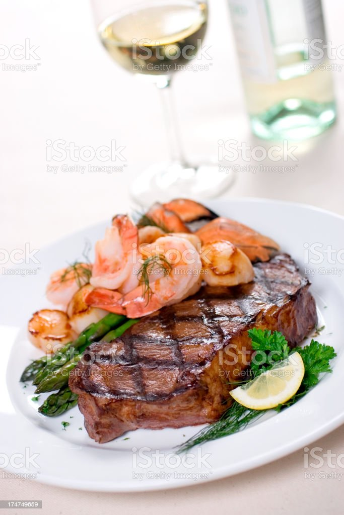 Mixed Seafood Grill royalty-free stock photo
