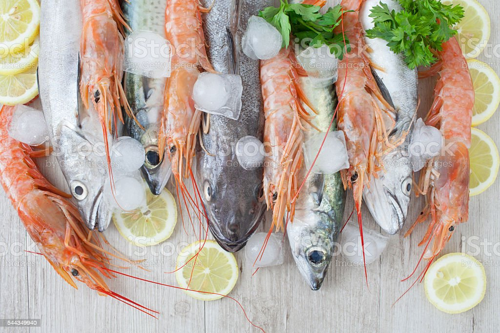 Mixed Seafood stock photo