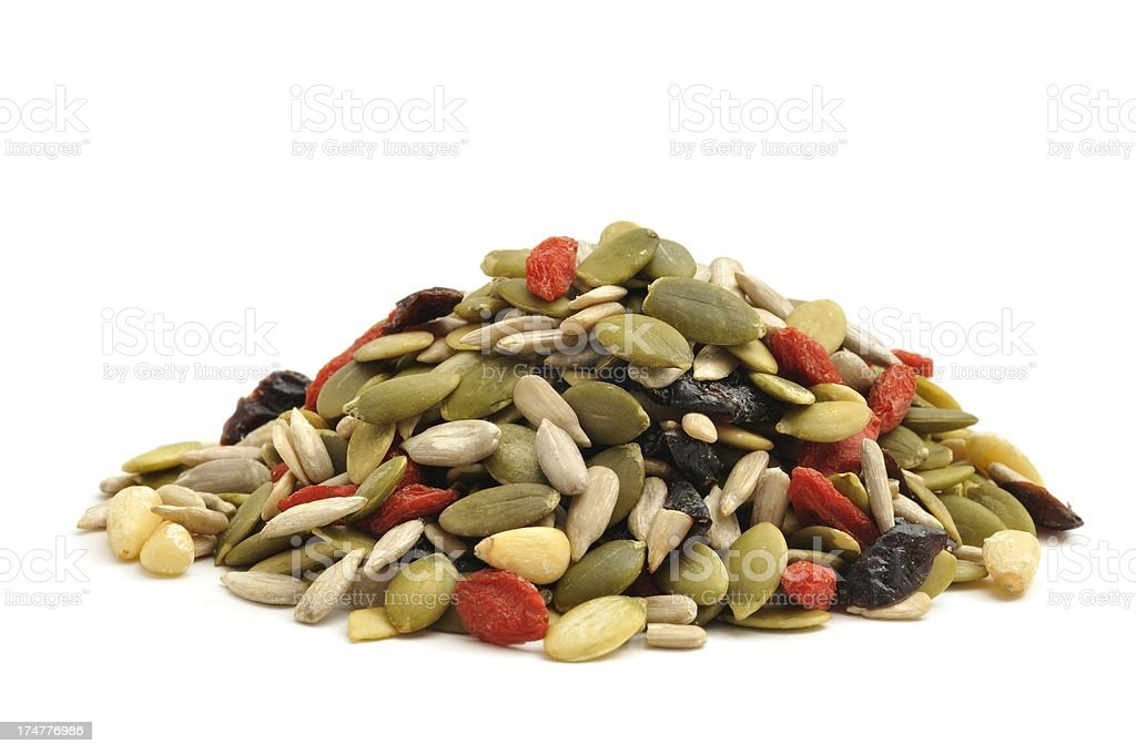 Mixed seed and fruit pile royalty-free stock photo