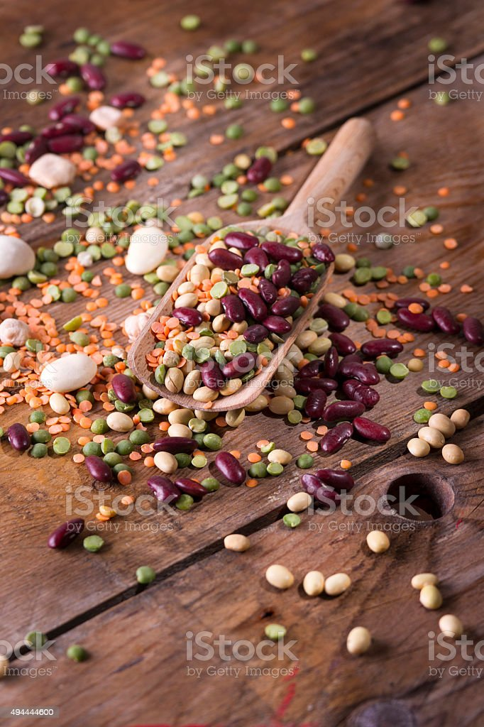 Mixed seeds legumes stock photo