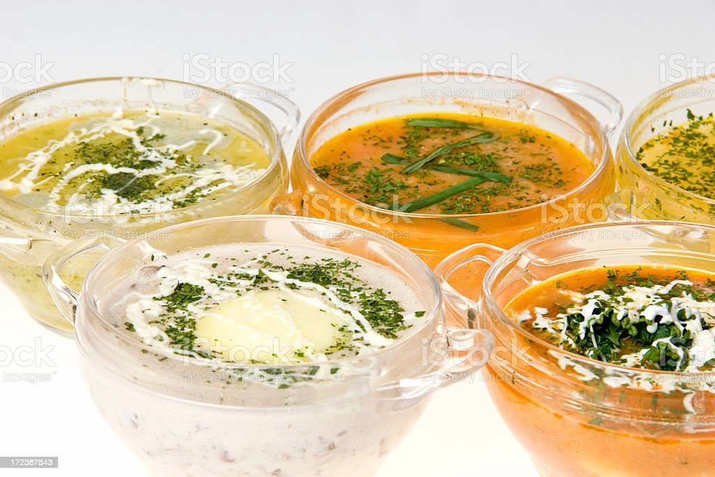 mixed soups royalty-free stock photo