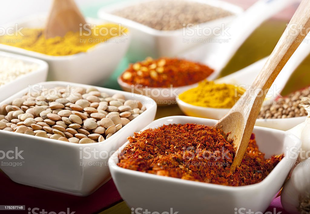 Mixed Spices royalty-free stock photo