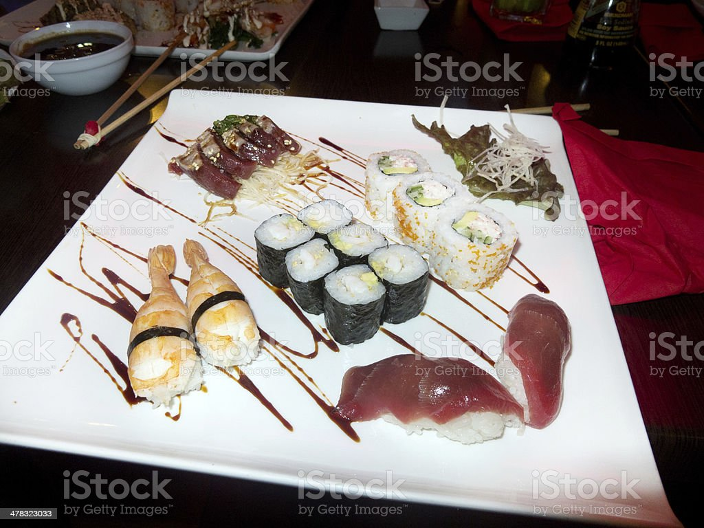 Mixed Sushi plate royalty-free stock photo