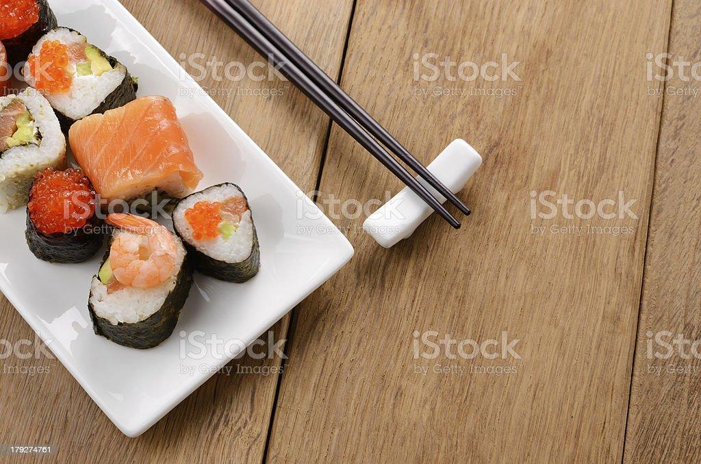 Mixed sushi set royalty-free stock photo