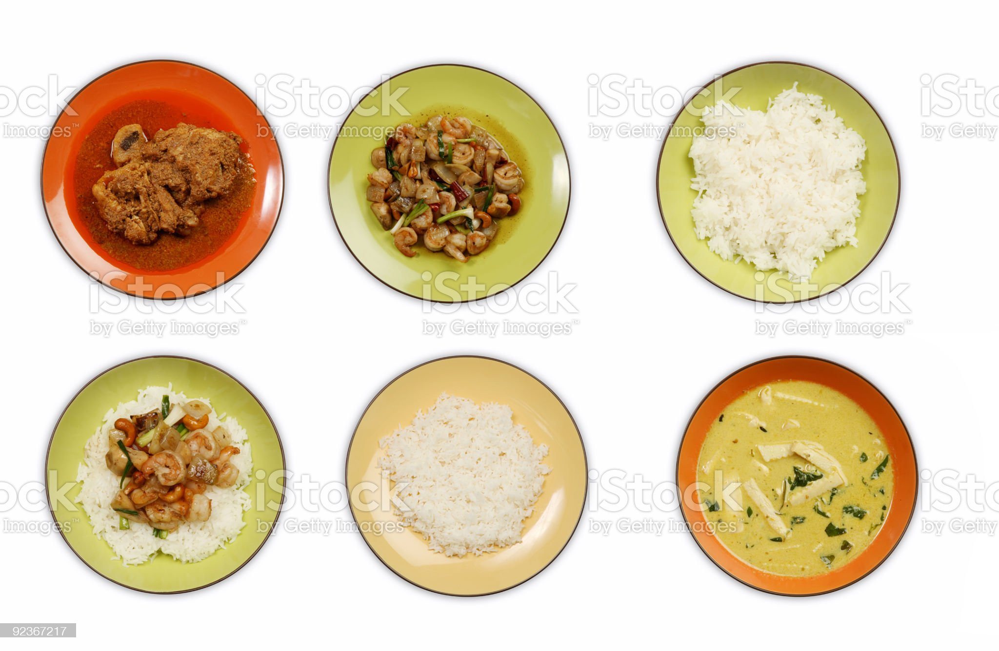 mixed thai and malay food royalty-free stock photo