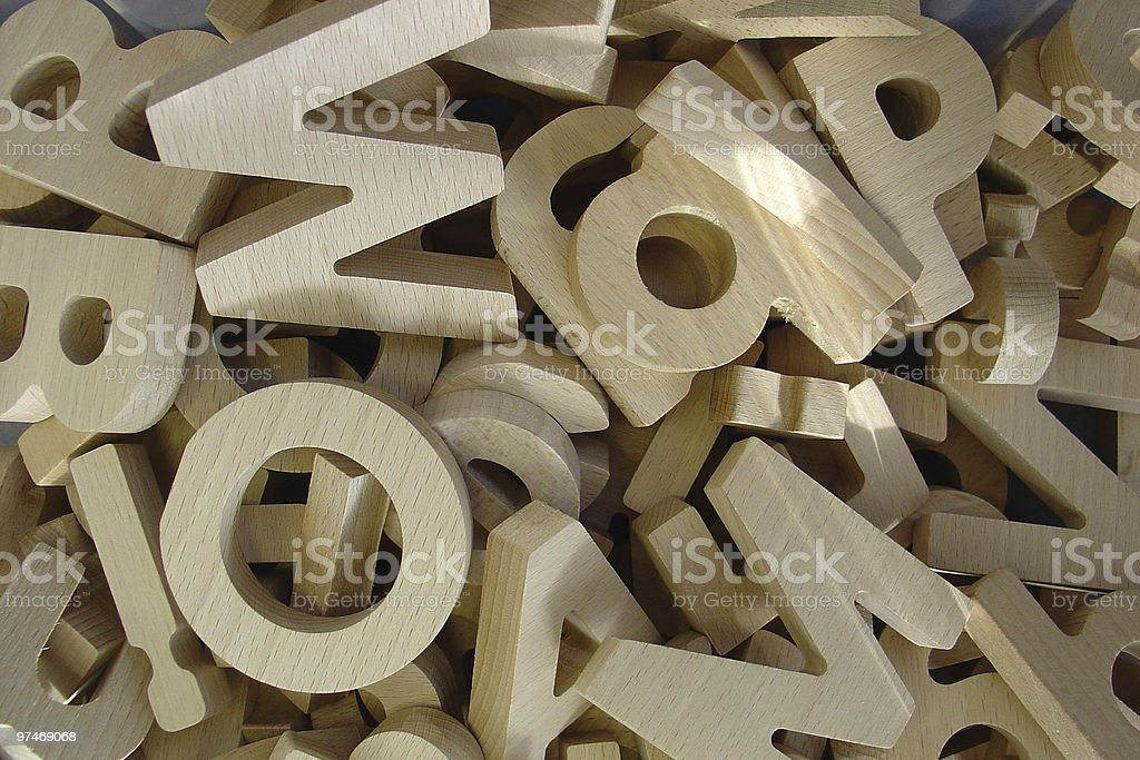 mixed up letters royalty-free stock photo