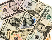 Mixed US Dollars on American Presidents