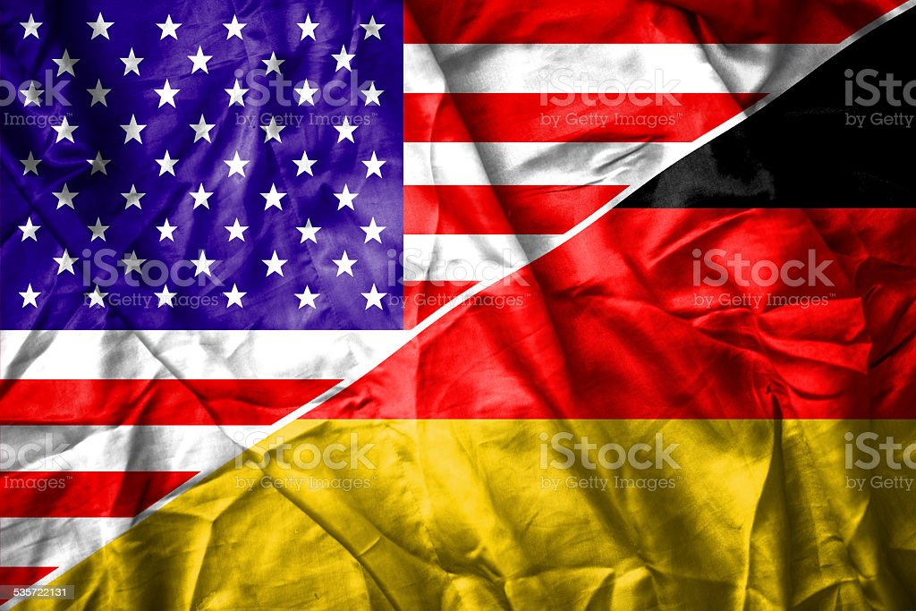 Mixed USA and Germany flag stock photo