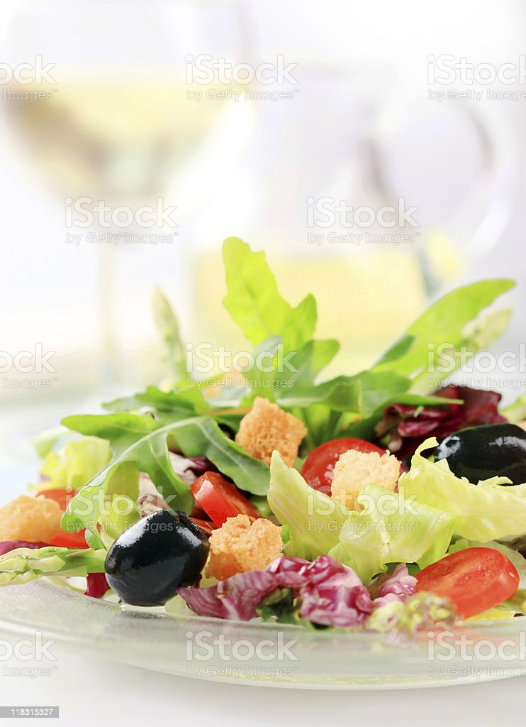 Mixed vegetable salad royalty-free stock photo