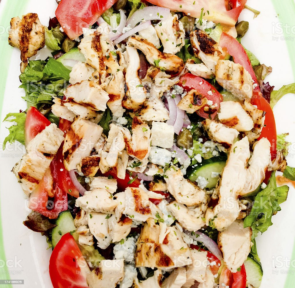 Mixed Vegetables and Grilled chicken salad royalty-free stock photo
