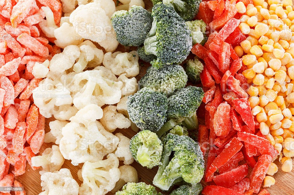 Mixed vegetables background stock photo