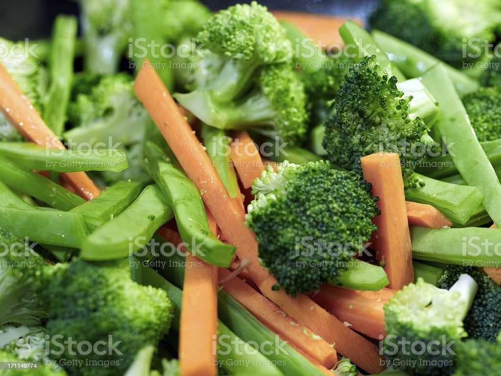 Mixed vegetables, boiled royalty-free stock photo