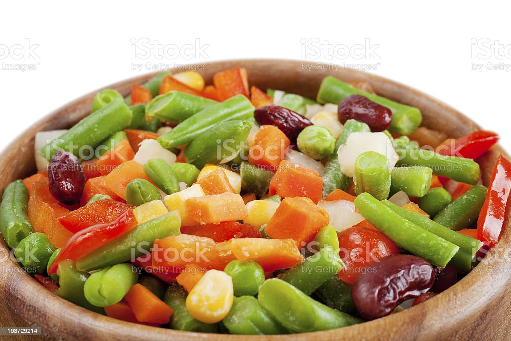 mixed vegetables in bowl royalty-free stock photo