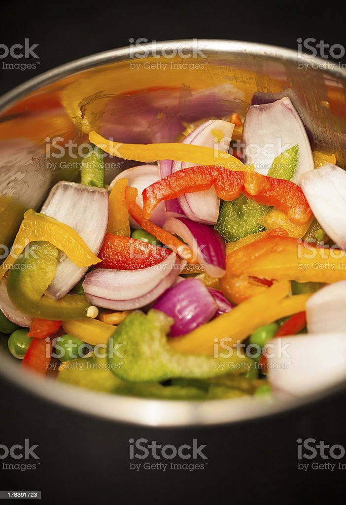 Mixed Vegetables in Pan royalty-free stock photo