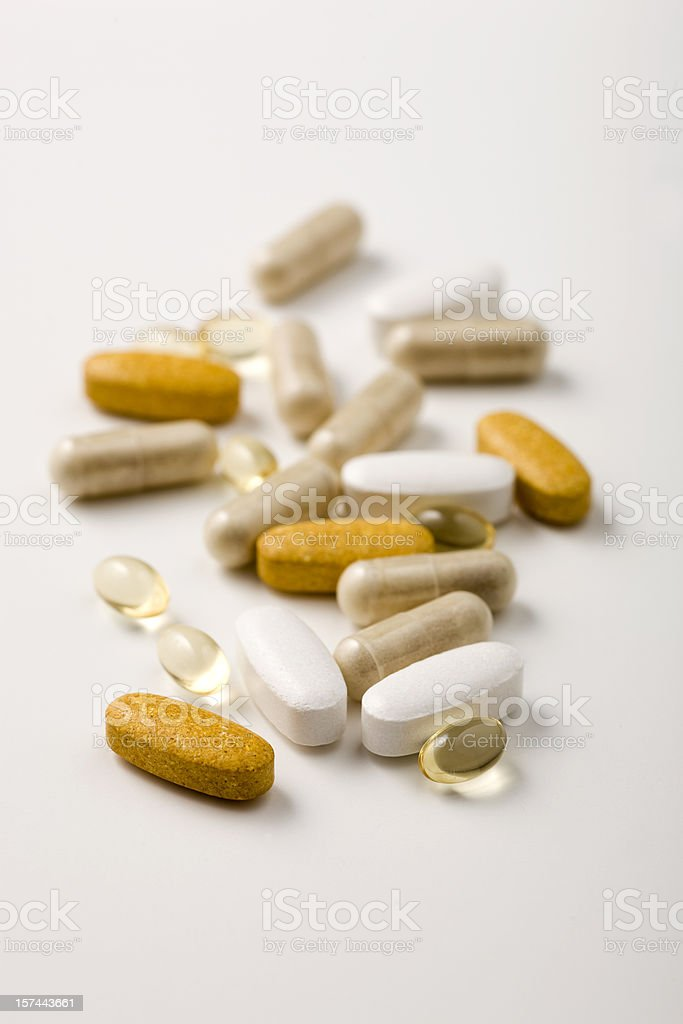 mixed vitamins royalty-free stock photo