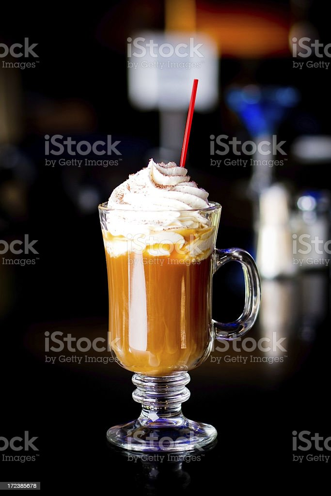 Mixed warm Cocktail Coffee stock photo