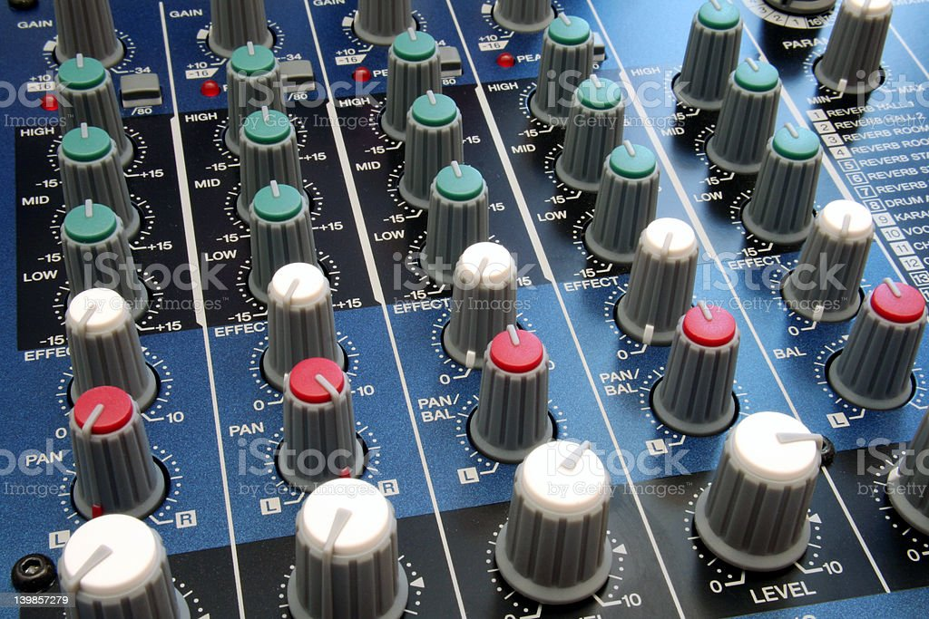Mixer - all Knobbed Up royalty-free stock photo