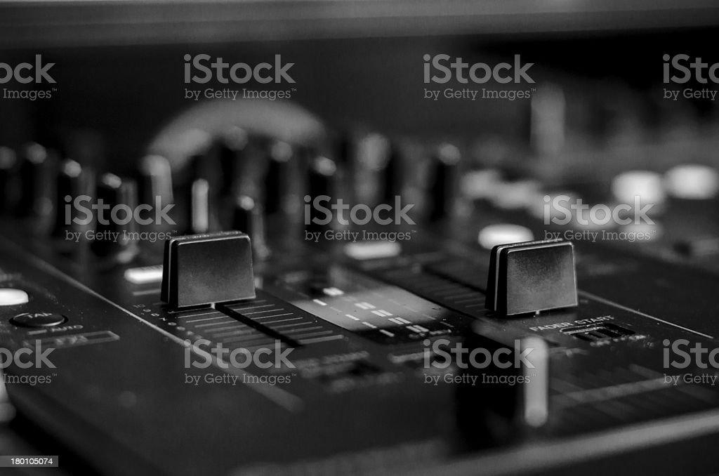 DJ Mixer Black & White stock photo