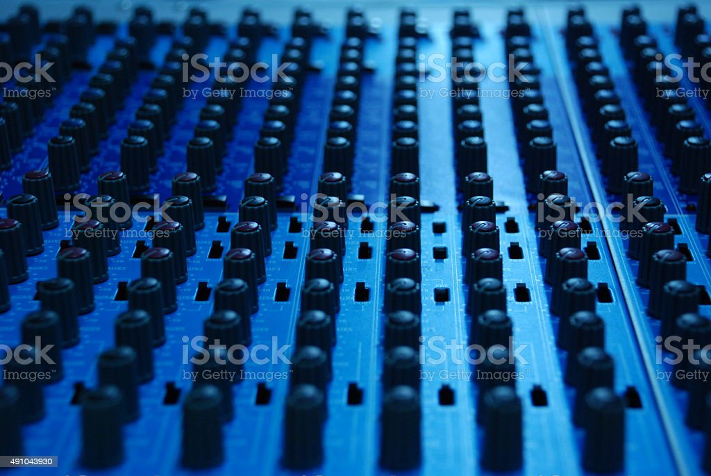 Mixer Controller stock photo