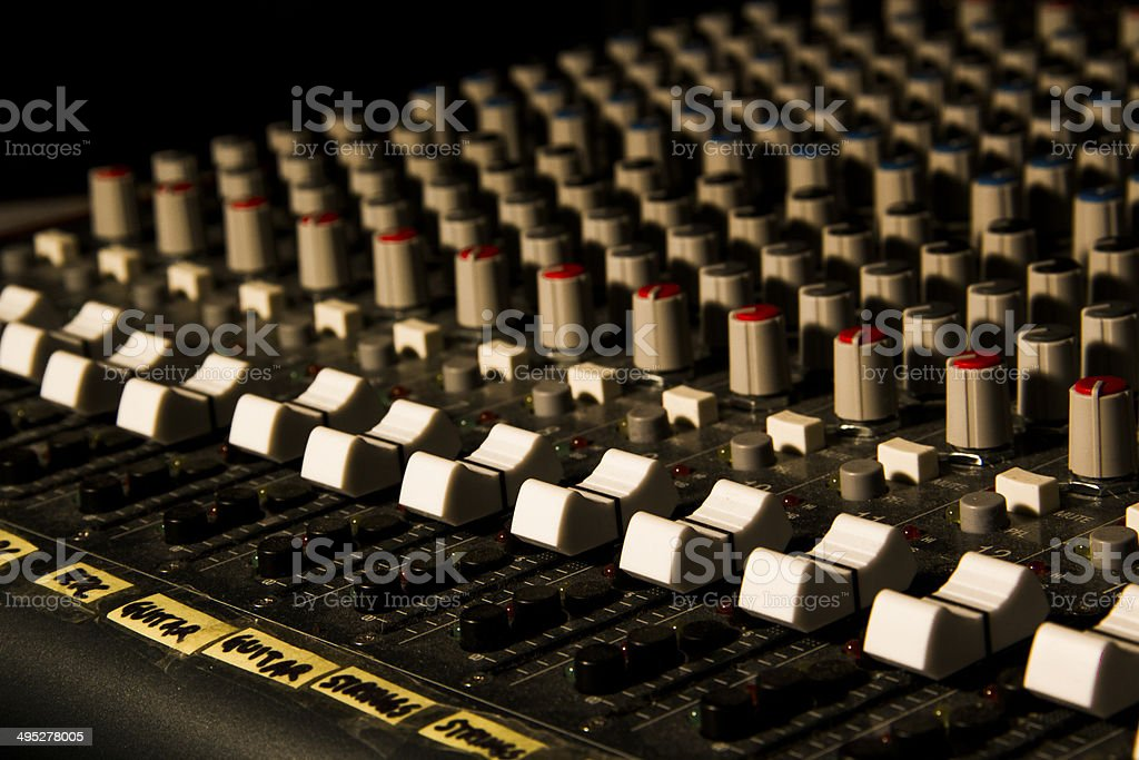 Mixer Keyboard stock photo