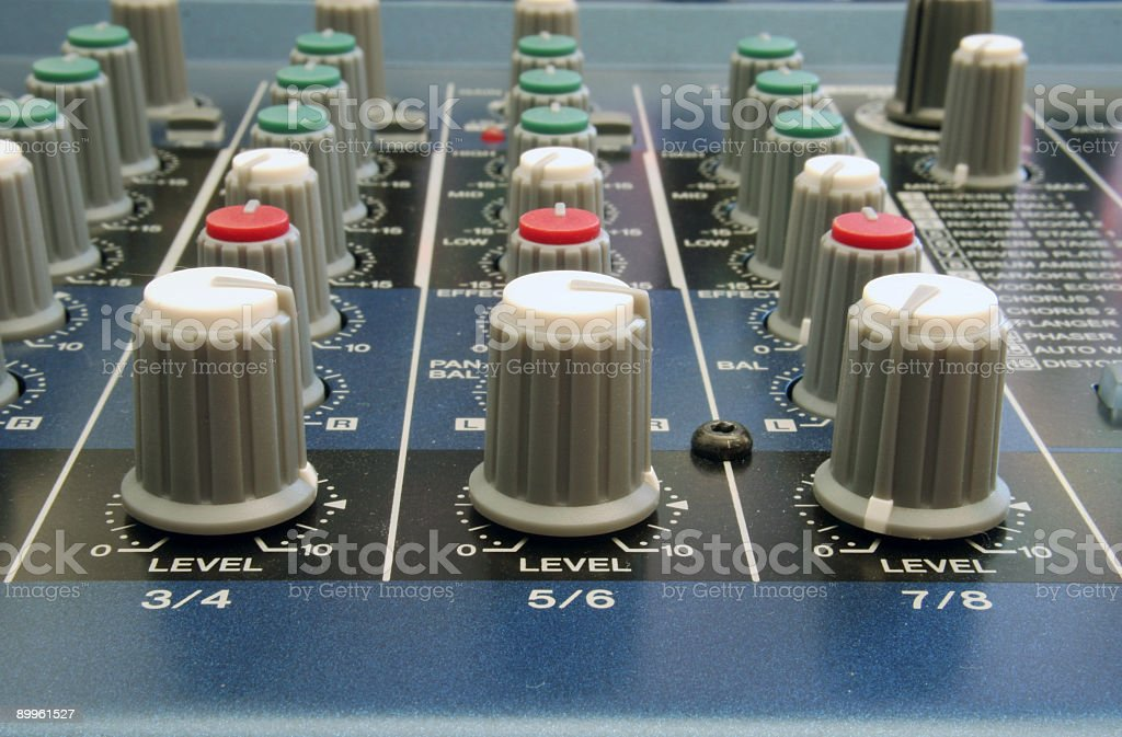 Mixer Levels Control Perspective royalty-free stock photo