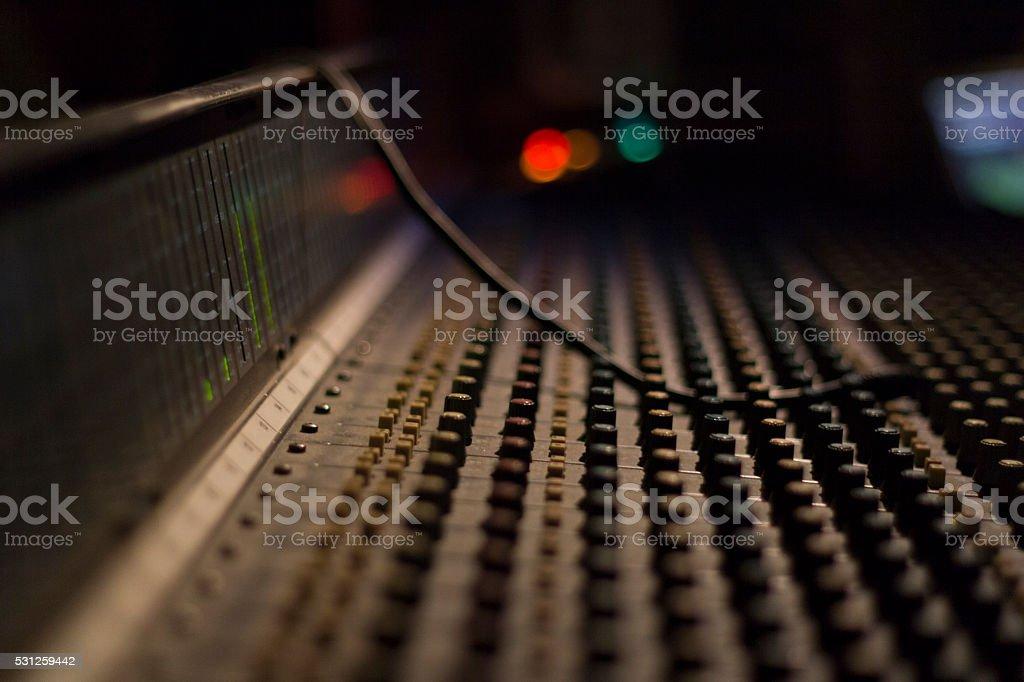 DJ mixer panel stock photo