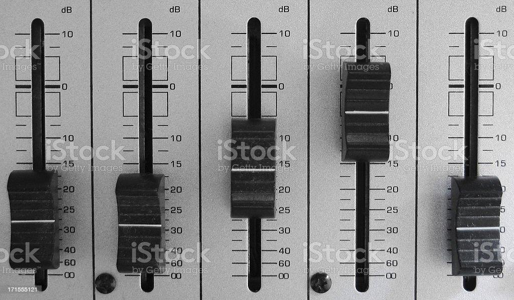 mixer sliders royalty-free stock photo