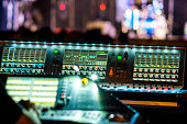 mixer table music concert bokeh live illuminated