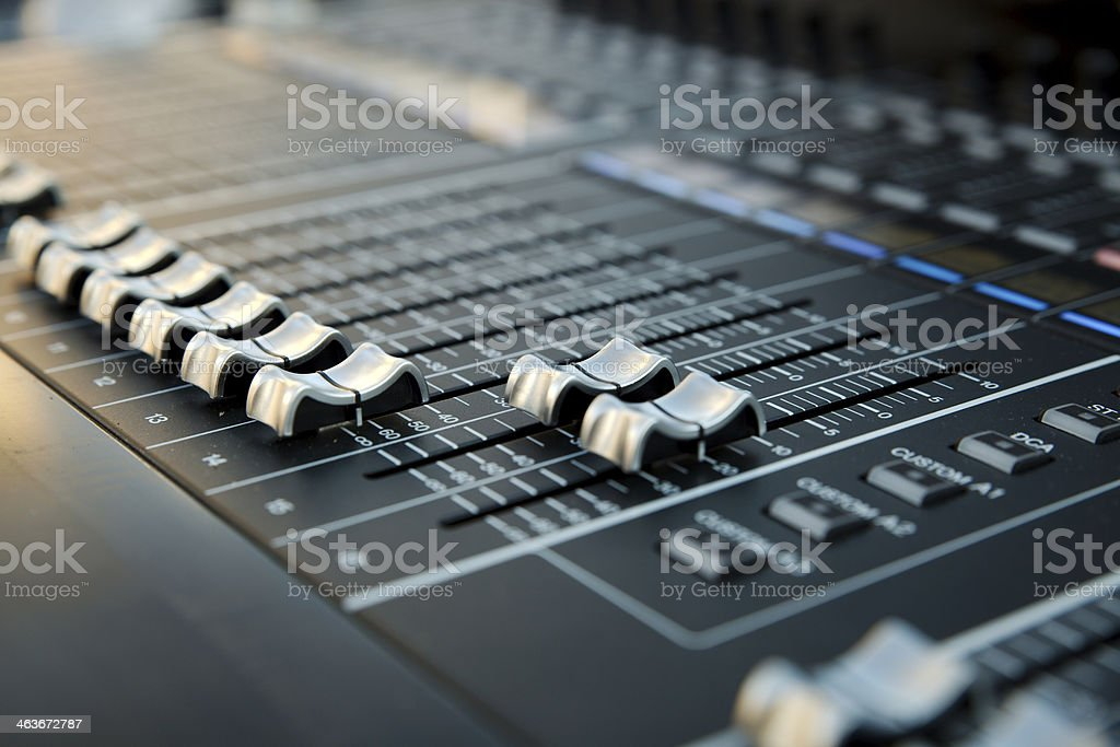 Mixer table stock photo