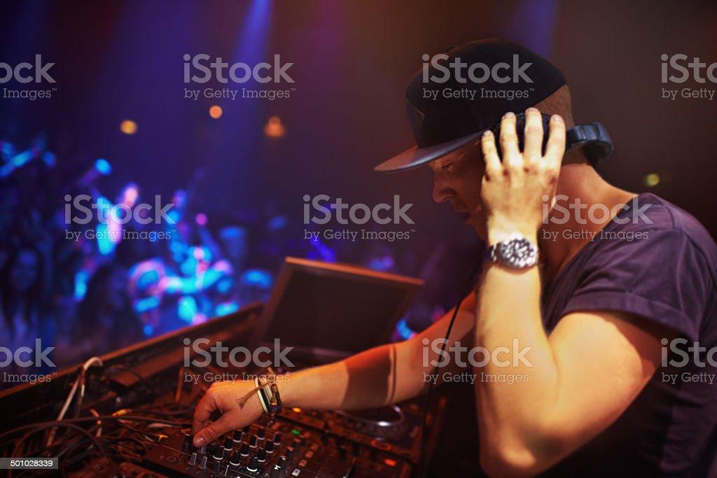 Mixing beats stock photo