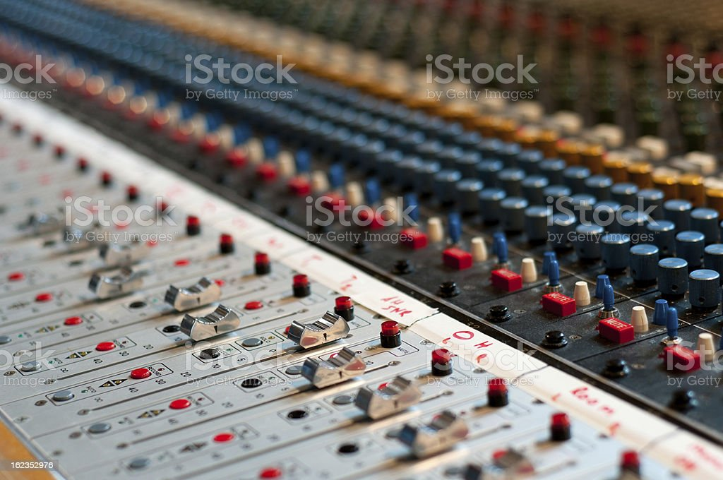 mixing board royalty-free stock photo
