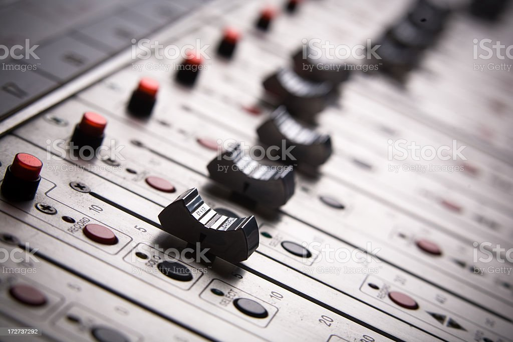 Mixing Board stock photo