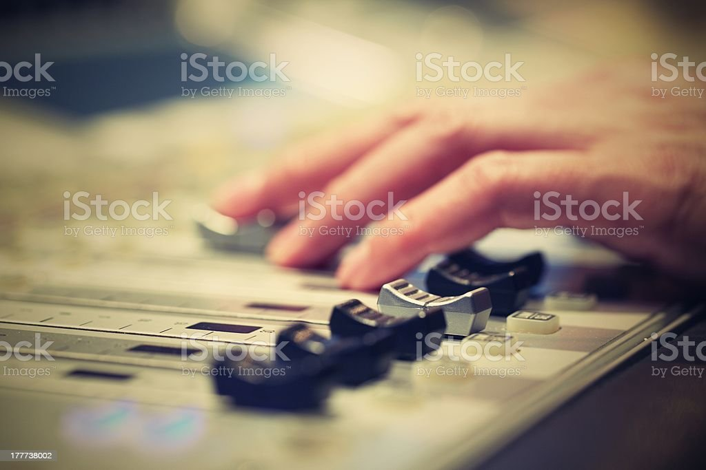 Mixing Board stock photo
