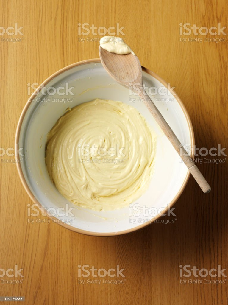 Mixing Bowl and Cake Mixture royalty-free stock photo