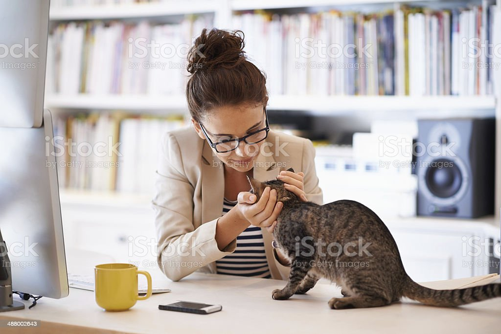 Mixing business with pleasure stock photo