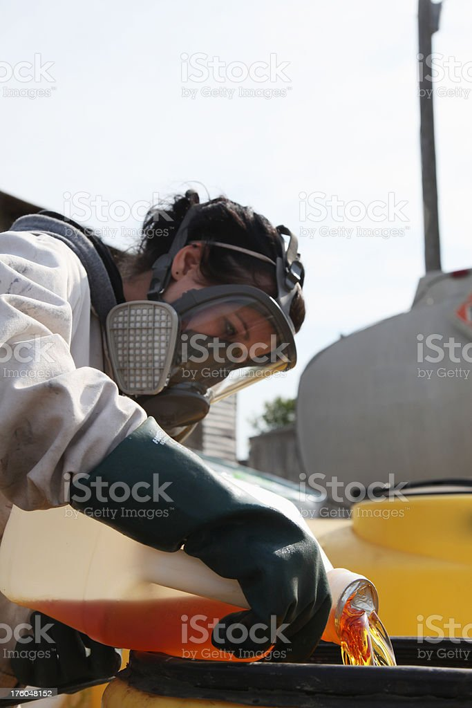 mixing chemical stock photo