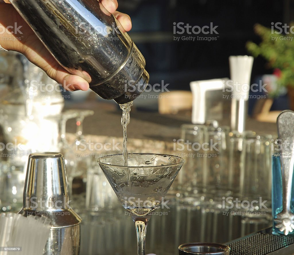 Mixing Cocktails royalty-free stock photo