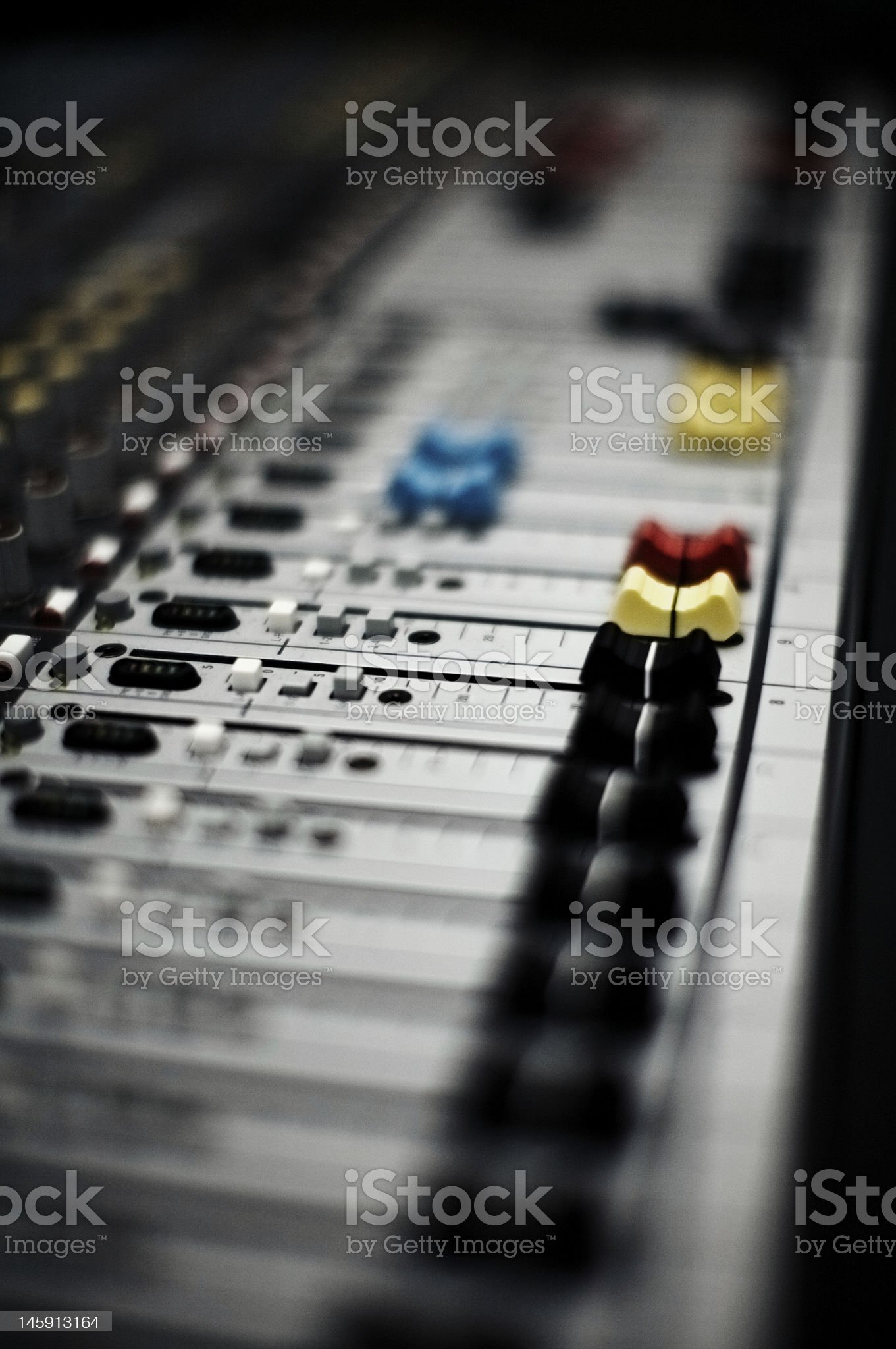 mixing console royalty-free stock photo