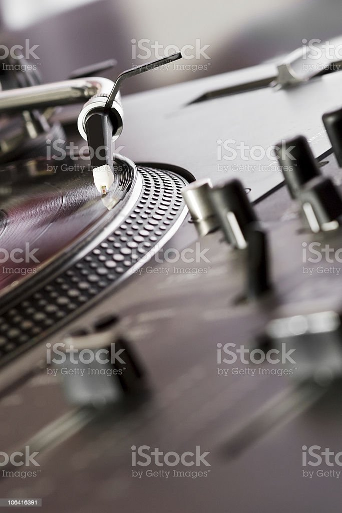 Mixing controller and turntable stock photo